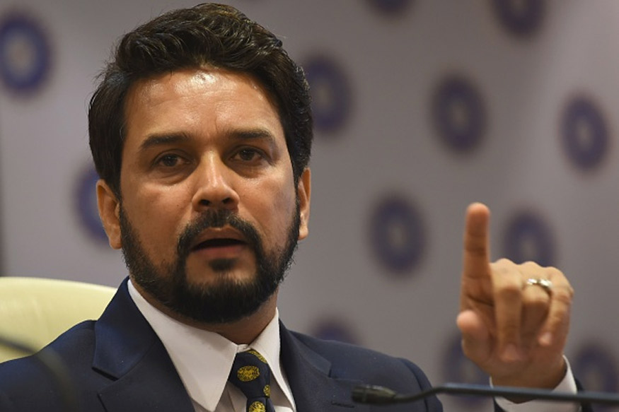File image of Anurag Thakur during a press conference. (Getty Images)
