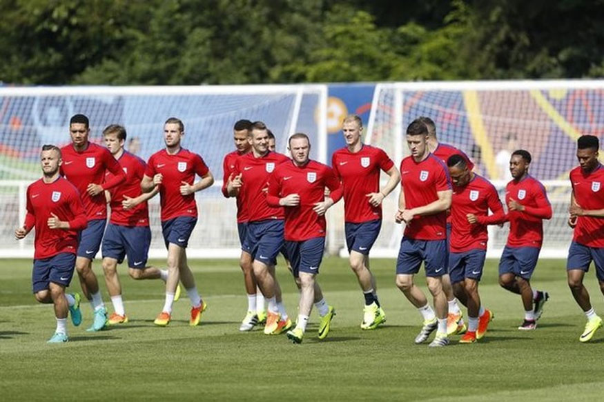 England's players during training. (Reuters Image)