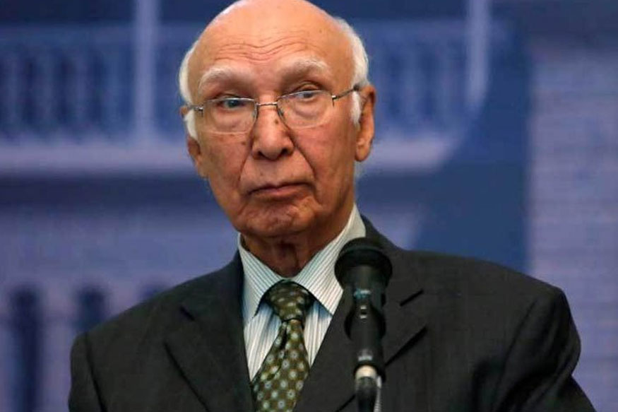 """Attempt to Block Islamabad's Share of Water """"Act of War"""": Sartaj Aziz"""