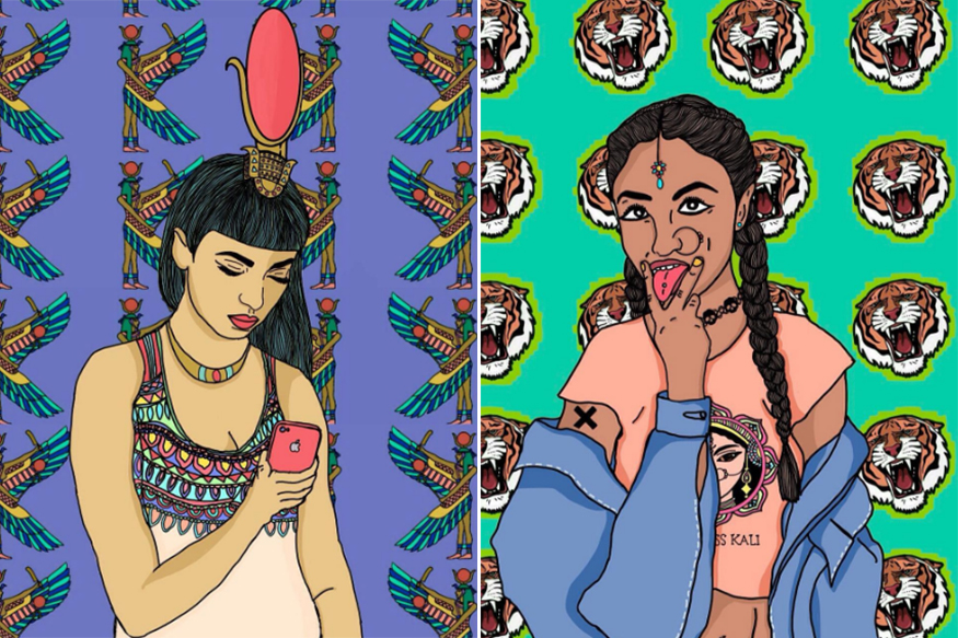 A Mumbai Artist Painted Goddesses As Modern Feminist Women