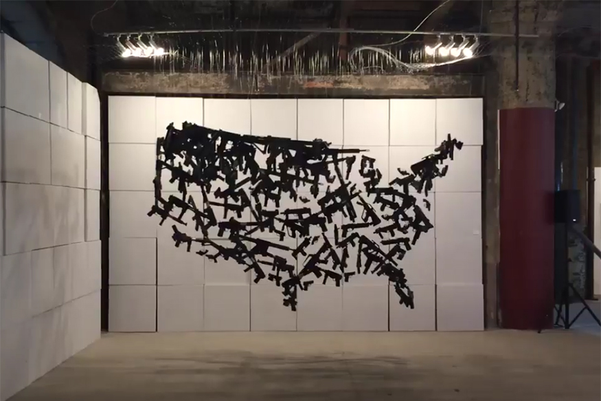 This 3D Art About America's Gun Control Problem is a Visual Masterpiece