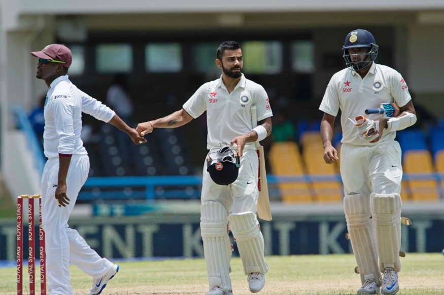 1st Test: Kohli, Ashwin Shine as India Dominate Day 2 in Antigua