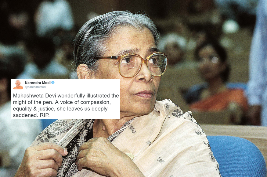 Politicians, Authors Condole Mahasweta Devi's Passing Away