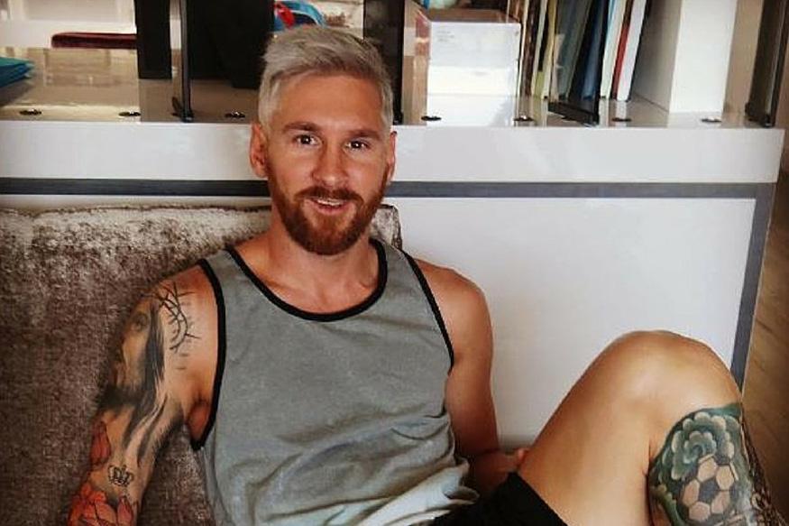 Lionel Messi Makes Fashion Statement, Goes Platinum Blonde