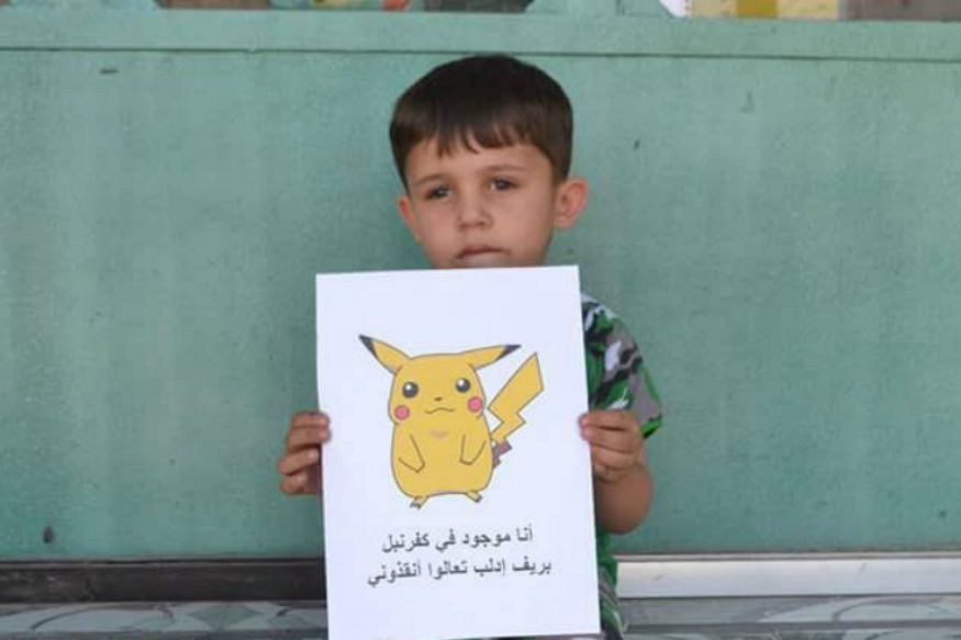 Syrian Kids Hold Up Pokemon Go Drawings To Plead For Help