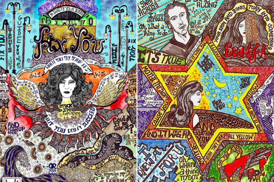 This Mumbai Artist Doodles Crazy Art for Coldplay Songs!