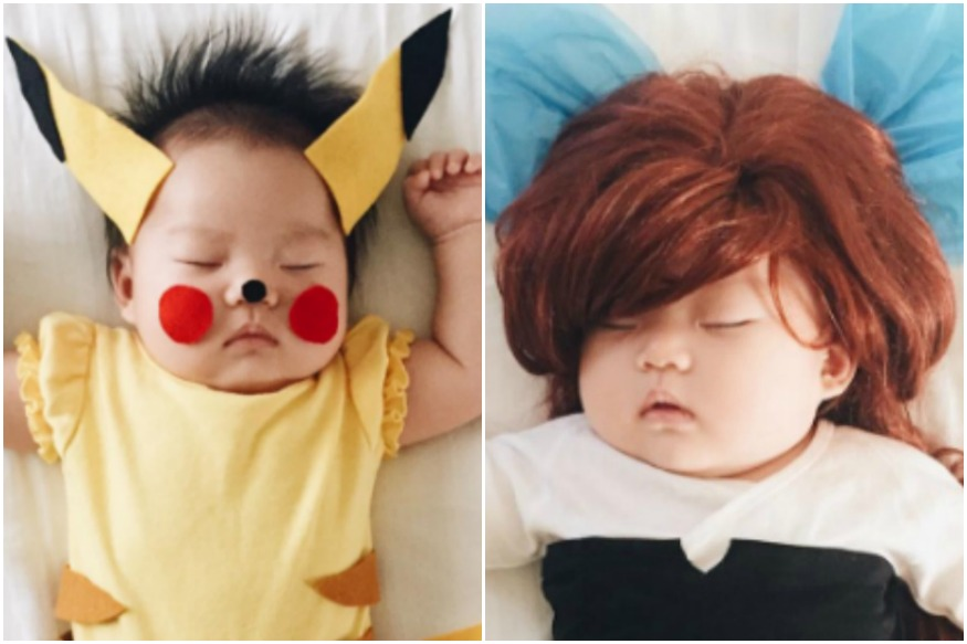 This Mom Plays Dress-Up With Her Sleeping Baby And The Images Are Adorable