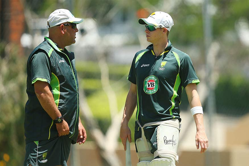 Darren Lehmann and Steve Smith. (Getty Images)