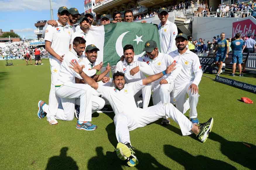 Pakistan Cricket Team Celebrates