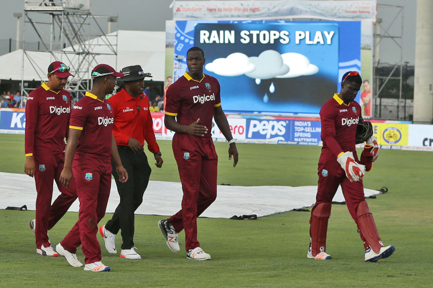 Wet Outfield Denies India Chance to Level; West Indies Win Series 1-0