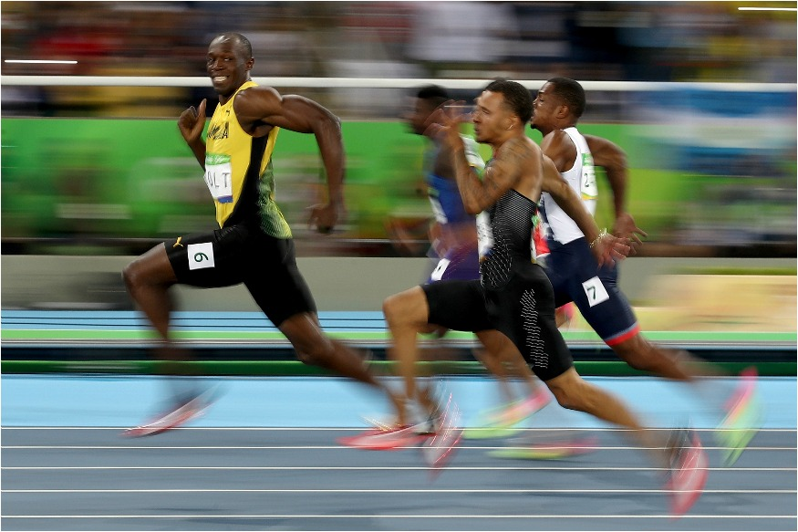 (Photo: Getty Images/ Usain Bolt of Jamaica competes in the Men's 100 meter semifinal on Day 9 of the Rio 2016 Olympic Games)