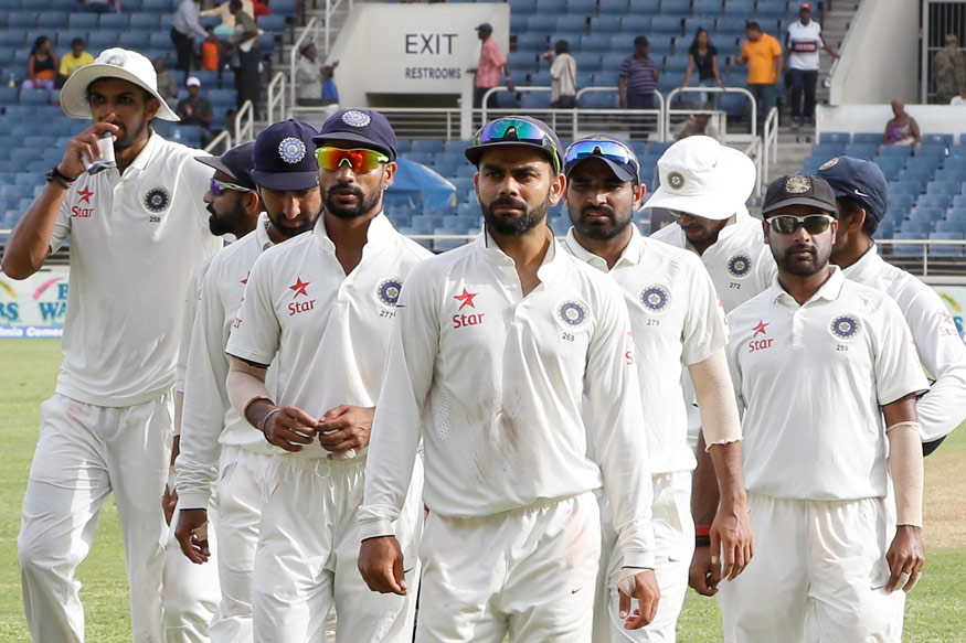 A file photo of Virat Kohli with his Test team members. (Getty Images)