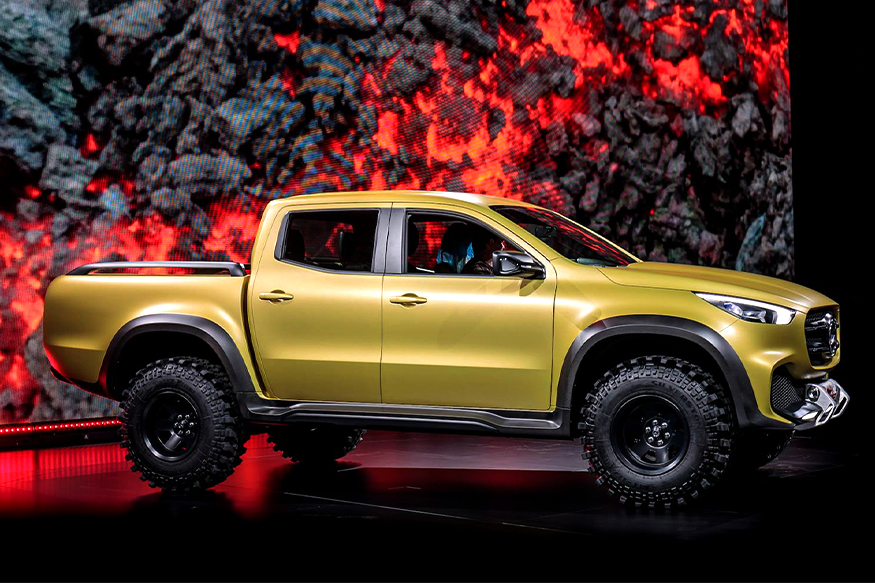 mercedes benz x class pickup truck unveiled to launch in 2017 news18. Black Bedroom Furniture Sets. Home Design Ideas