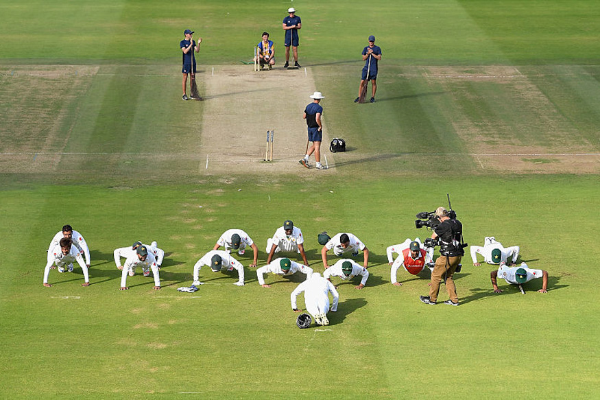 There is no ban on push-ups, Najam Sethi clarifies