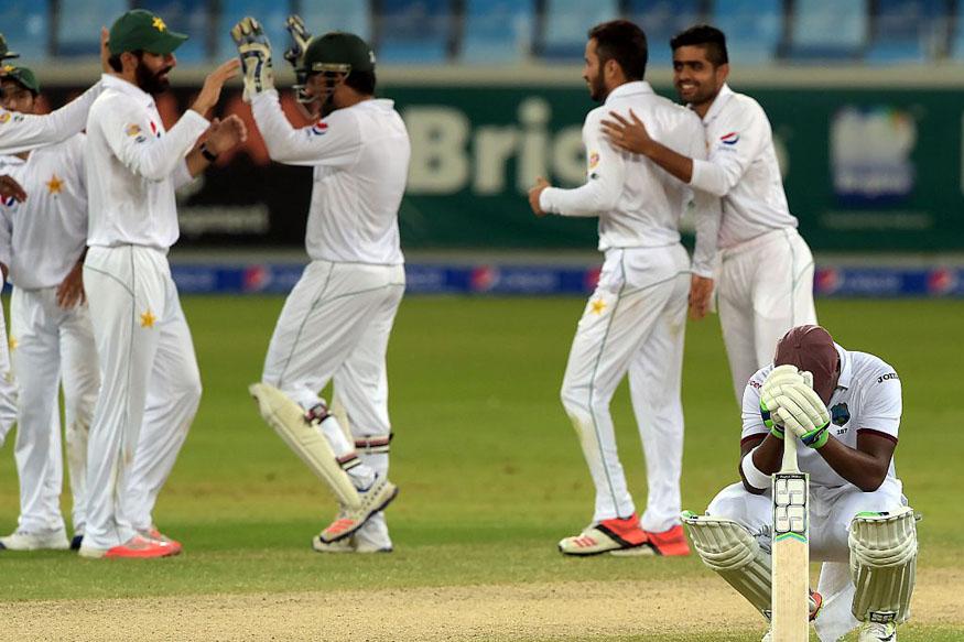 West Indies batsman Darren Bravo reacts after his dismissal. (Getty Images)