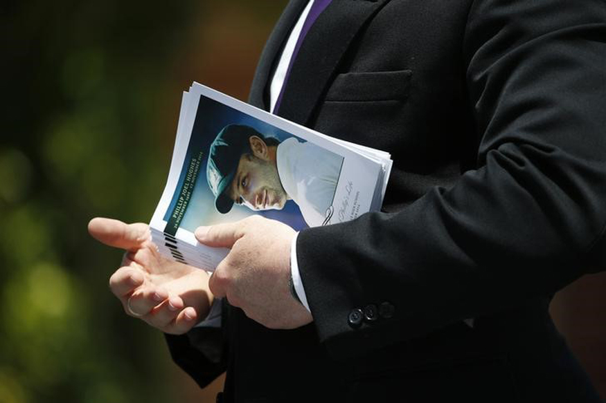 An order of service for the funeral of Australian cricketer Phillip Hughes. (REUTERS)