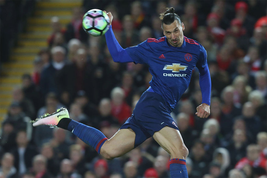 Zlatan Ibrahimovic Missed a Crucial Header against Liverpool. (Getty Images)