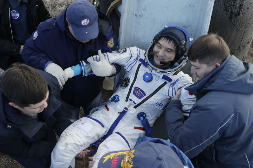 astronaut returns after one year in space - photo #36