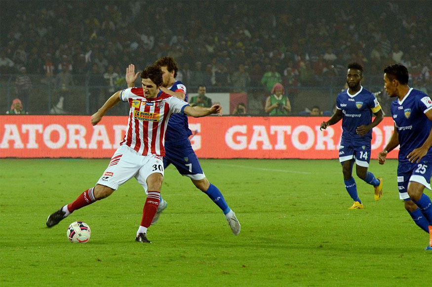 File photo of clash between Atletico de Kolkata and Chennaiyin FC in ISL 2015. (Getty Images)