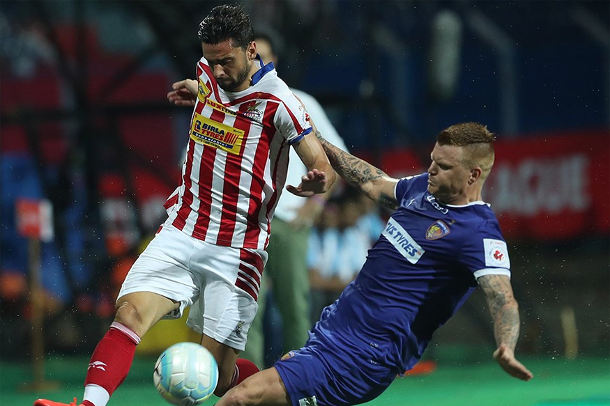 A file photo of Chennaiyin FC and Atletico de Kolkata players in action during a match. (ISL)