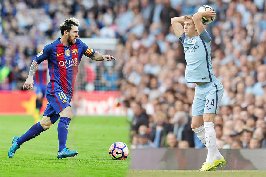 John Stones and Lionel Messi. (Getty Images)