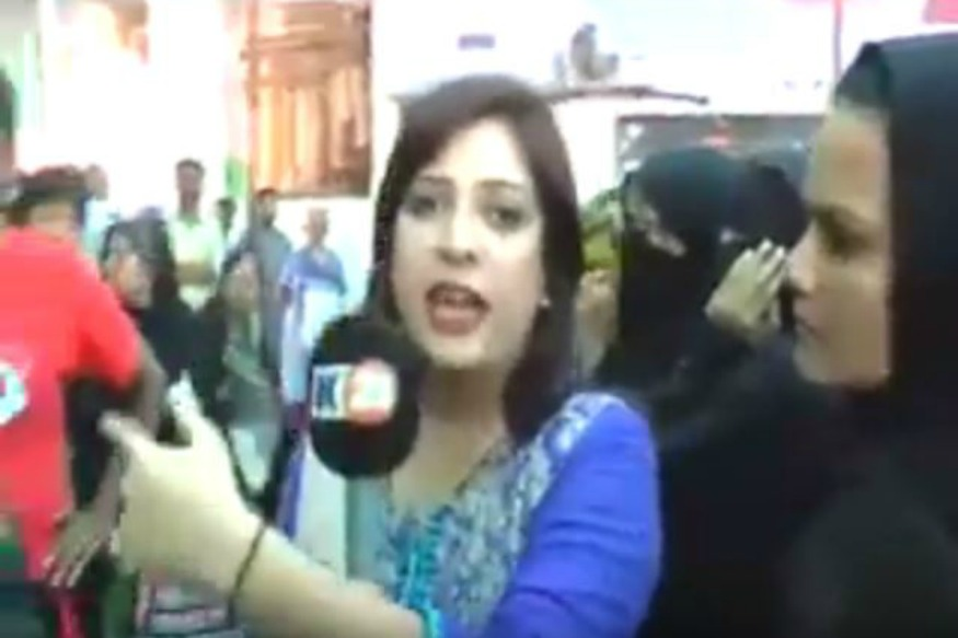 Pakistani Constable Slaps Woman Journalist During Live Broadcast