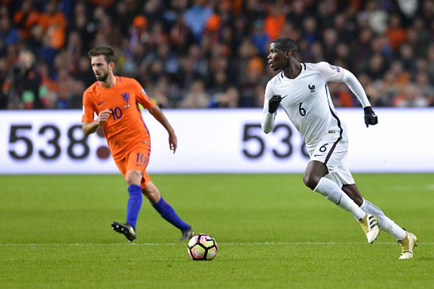 Paul Pogba during the FIFA 2018 World Cup Qualifier match between France and The Netherlands. (Picture Credit: Getty Images)