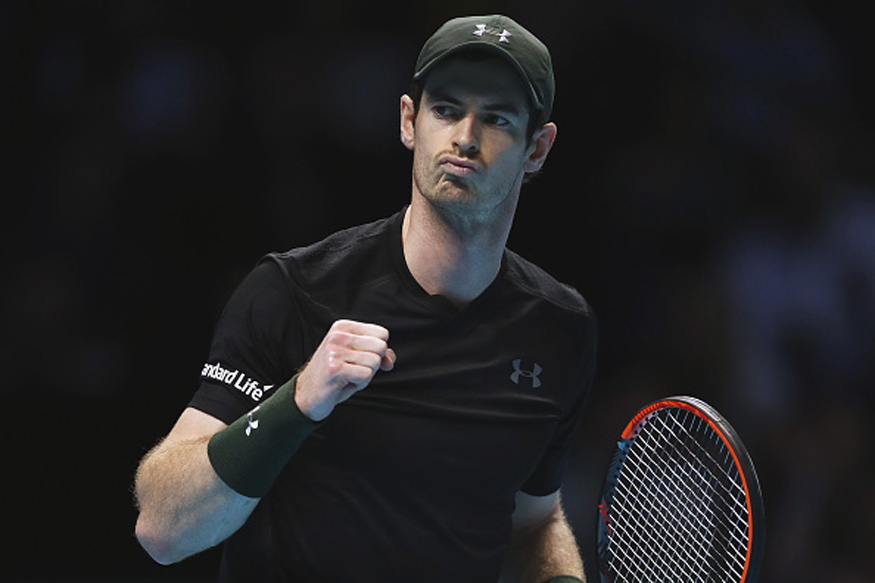 Andy Murray celebrates after beating Stan Wawrinka. (Getty Images)