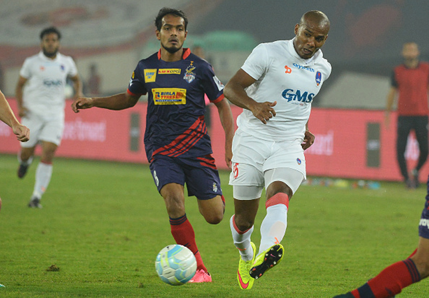Delhi Dynamos Captain Florent Malouda in action. (Getty Images)