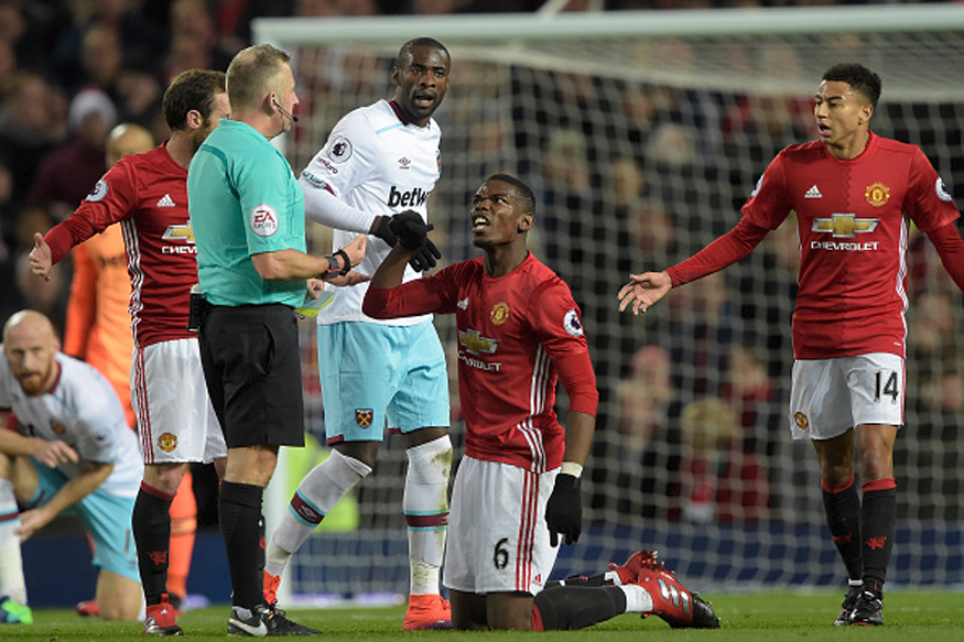 Manchester United vs West Ham at Old Trafford. (Getty Images)