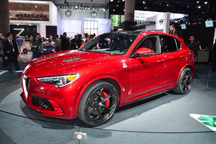 Alfa Romeo Stelvio Quadrifoglio at the 2016 LA Auto Show (Image: Newspress)