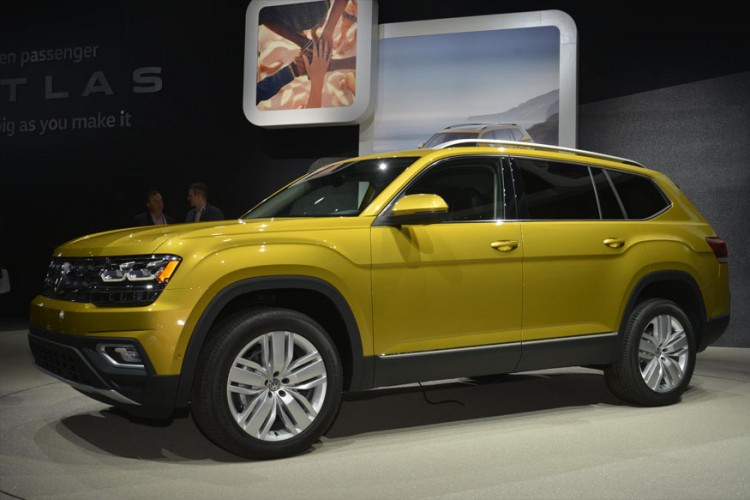The Volkswagen Atlas at the 2016 LA Auto Show (Image: Newspress)