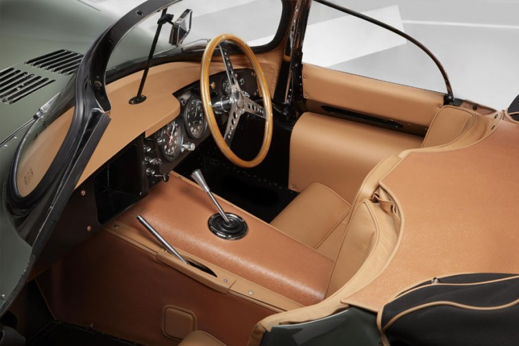 Interiors of the 'new' Jaguar XKSS (Image: Jaguar Land Rover)
