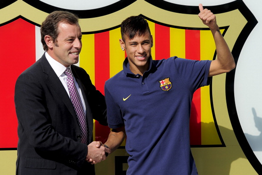 File Image of Neymar being Unveiled by Barcelona in 2013. (Getty Images)