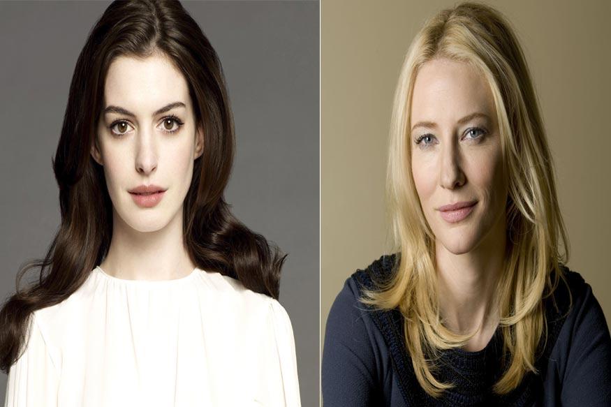 No feud between Anne Hathaway, Cate Blanchett on Ocean's ... Anne Hathaway Feud