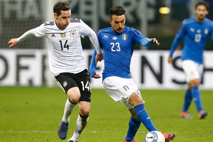 Italy and Germany players in action during an international friendly. (Reuters)
