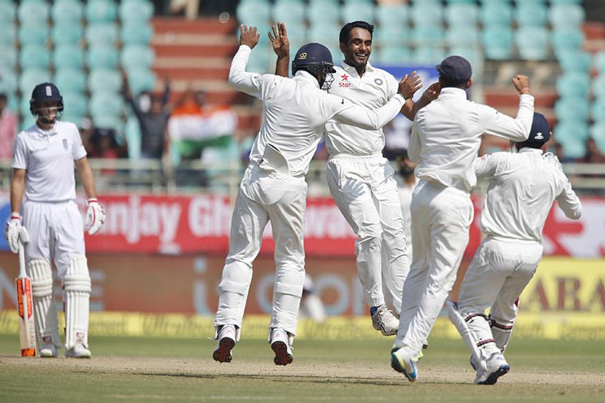 Jayant Yadav castled Ben Stokes for paltry 6. (AFP Photo)