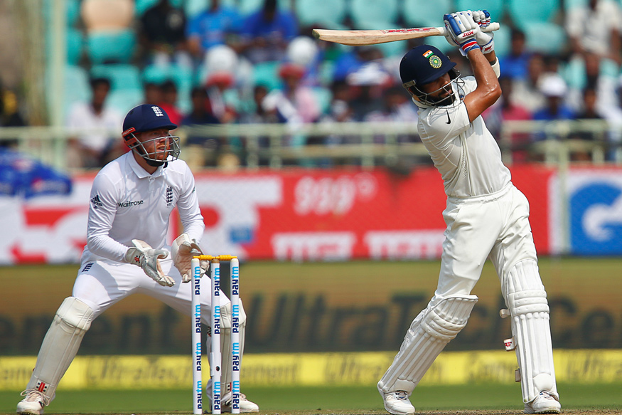 Captain Virat Kohli slammed his 13th Test Half century.  (Image credit: Reuters)