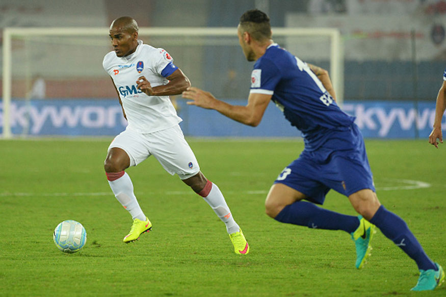 Florent Malouda in action against Chennaiyin FC in Delhi during an ISL match. (Getty Images)