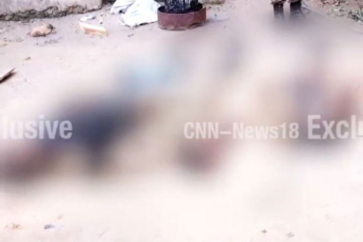 Bodies of three terrorists have been recovered but the total number who entered the camp was not known. (Photo: CNN-News18)