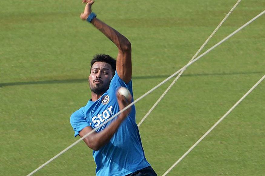 File photo of Hardik Pandya during practice (Getty Images)