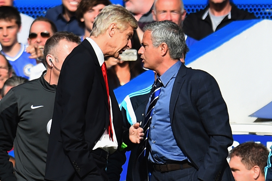 Jose Mourinho and Arsene Wenger. (Getty Images)