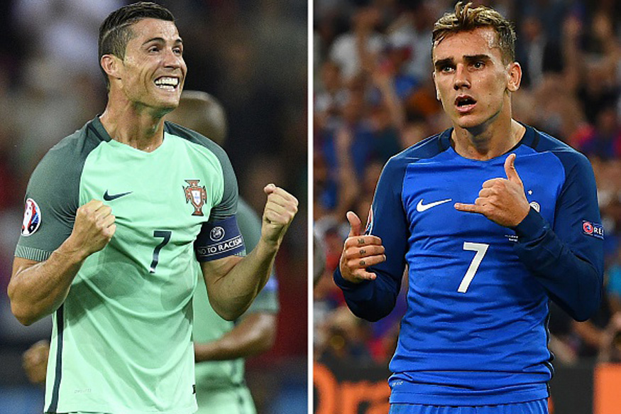 Cristiano Ronaldo and Antoine Griezmann. (Getty Images)