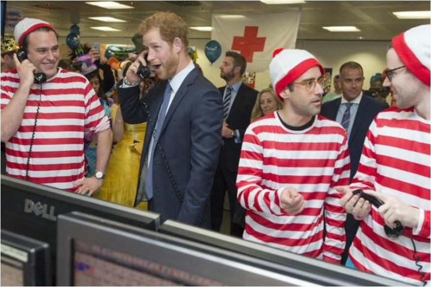 Britain's Prince Harry Turns Trader For Charity Day