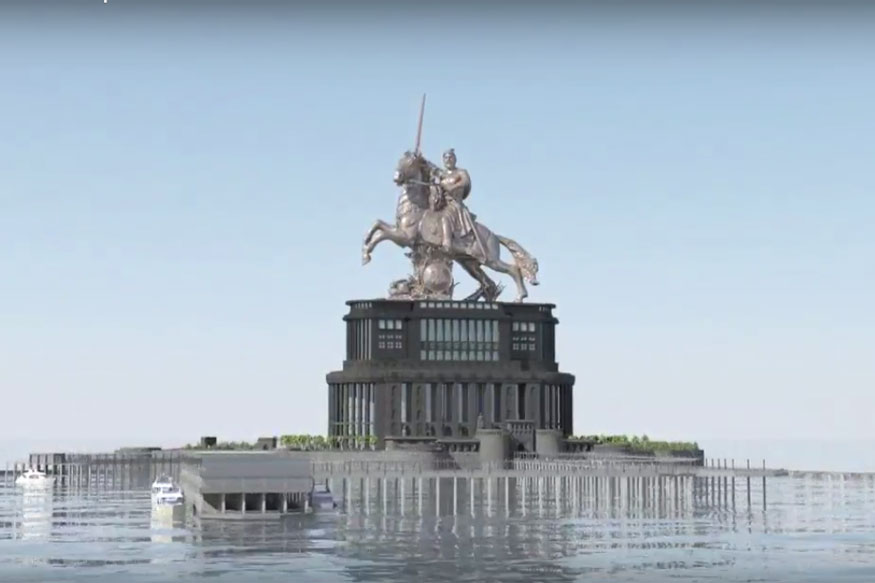 Artist's Impressing of Chhatrapati Shivaji Maharaj memorial