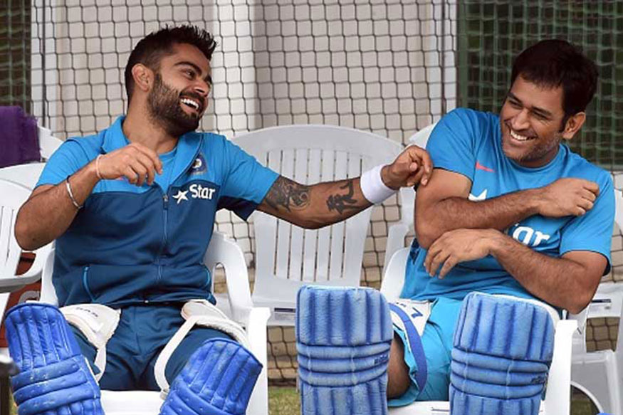 MS Dhoni, Virat Kohli Show Their 'Bromance' At Wankhede