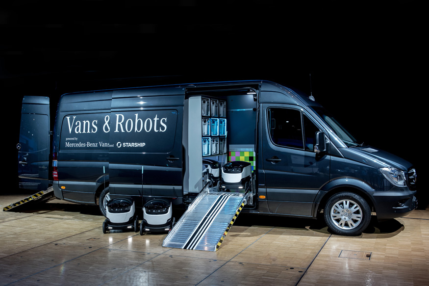 Mercedes Benz Wants to Use Robots For Making Goods Deliveries