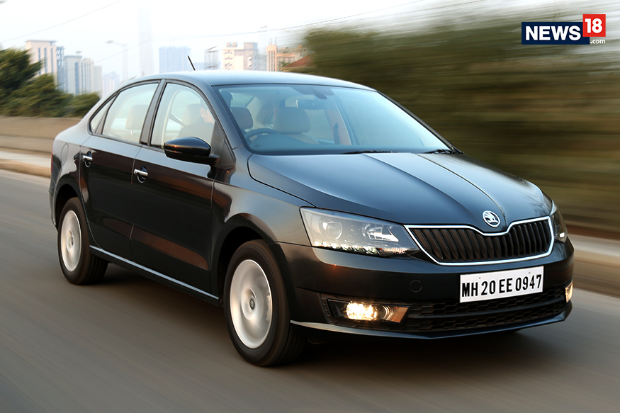 skoda rapid facelift review big on style and presence. Black Bedroom Furniture Sets. Home Design Ideas