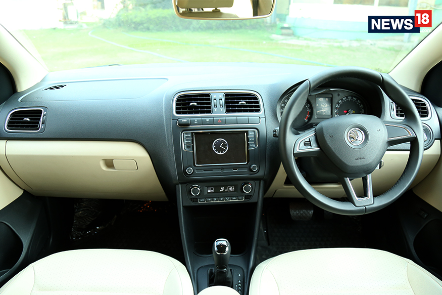 Skoda rapid facelift review big on style and presence news18 for Skoda rapid interior and exterior photos