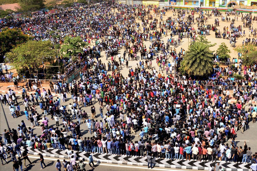 Inspired by Jallikattu Protest, Andhra Youth Presses For State's Special Status